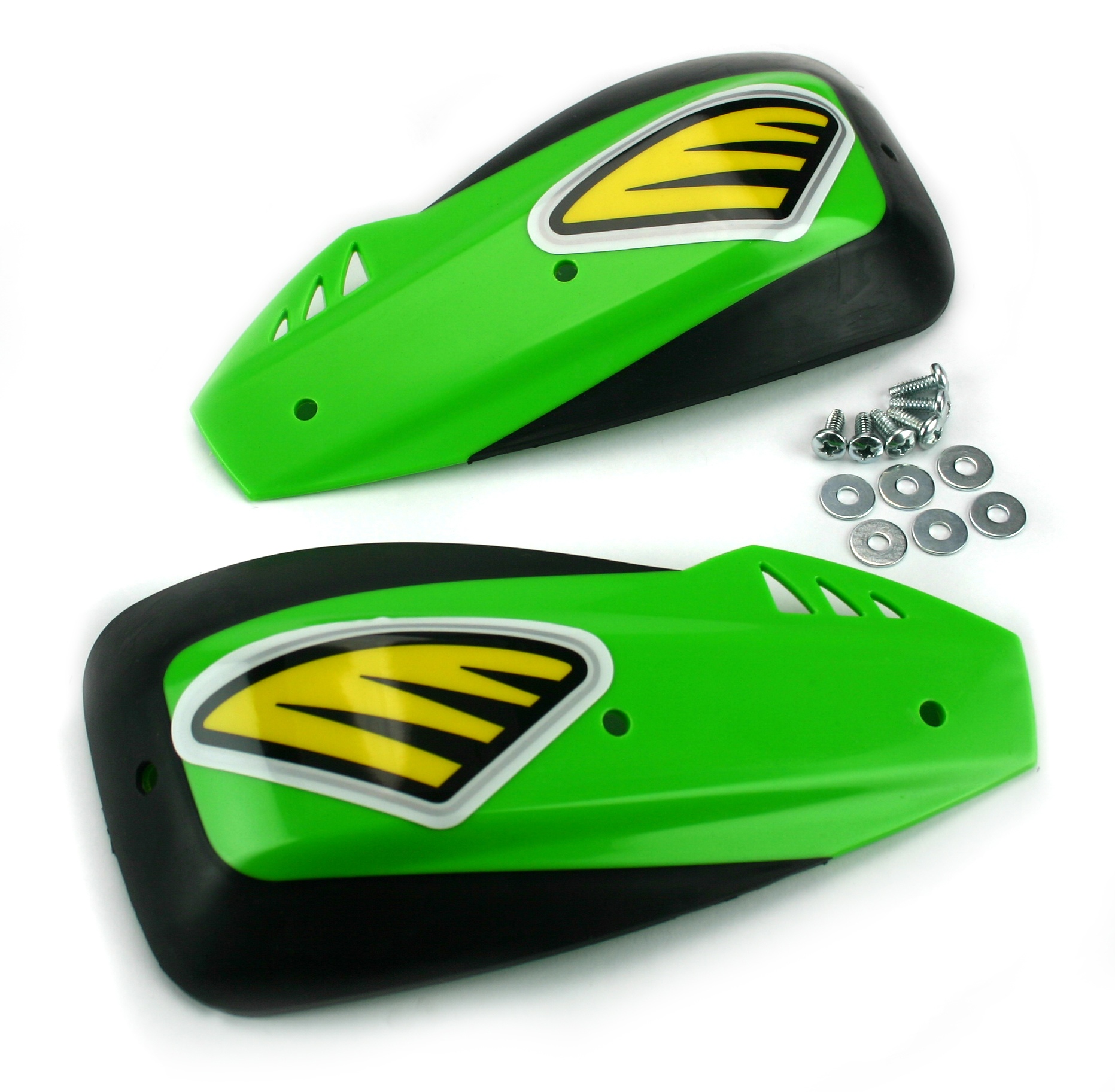 Enduro DX Handshields: Green: For use with alloy handguards