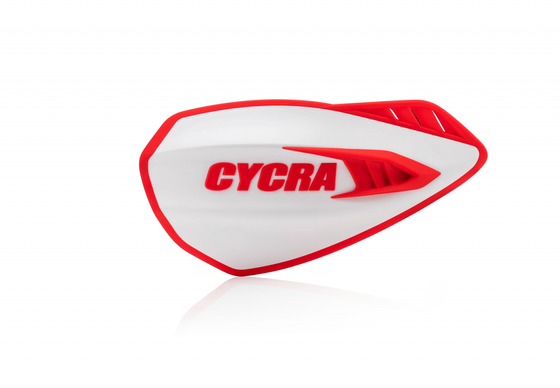 Cyclone Hand Guards White/Red